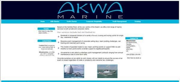 AkwaMarine Website