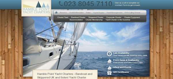 Hamble-Point-Yacht-Charters-website