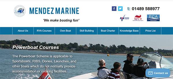 Mendez Marine website