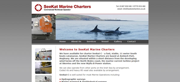 Seekat-Charters-website