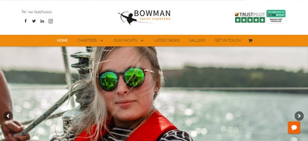 Bowman_Yacht_Charters_Ltd_website